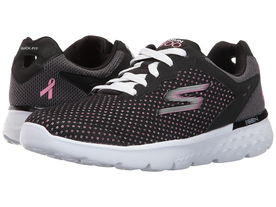 SKECHERS - Go Run 400 - Empower (Black/Pink) Women's Running Shoes