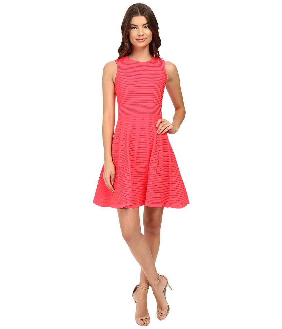 Ted Baker - Malou Ottoman Detailed Dress (Mid Orange) Women's Dress