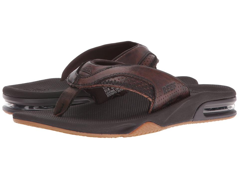 Reef - Leather Fanning Lux (Vintage Brown) Men's Sandals