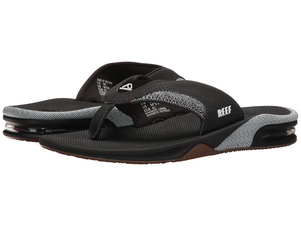 Reef - Fanning Prints (White/Stripes) Men's Sandals