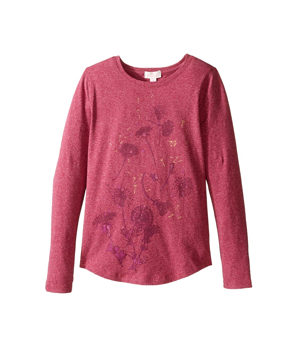 Pumpkin Patch Kids - Regina Long Sleeve Tee (Little Kids/Big Kids) (Beaujolais) Girl's T Shirt
