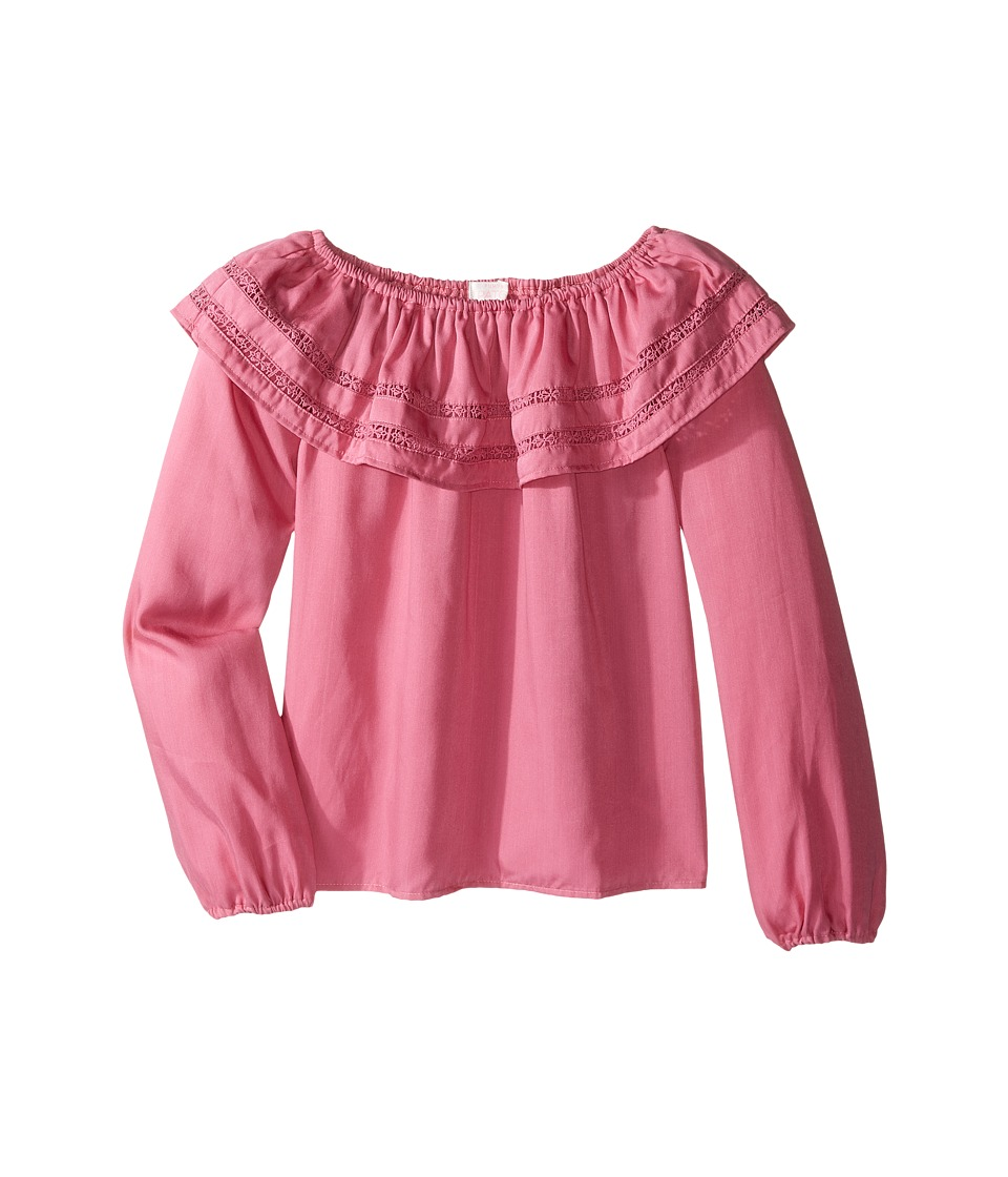 Pumpkin Patch Kids - Giselle Frill Top (Little Kids/Big Kids) (Chateau Rose) Girl's Clothing