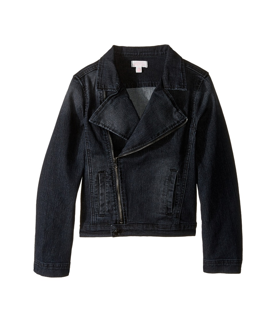 Pumpkin Patch Kids - Biker Denim Jacket (Little Kids/Big Kids) (Black Wash Denim) Girl's Coat