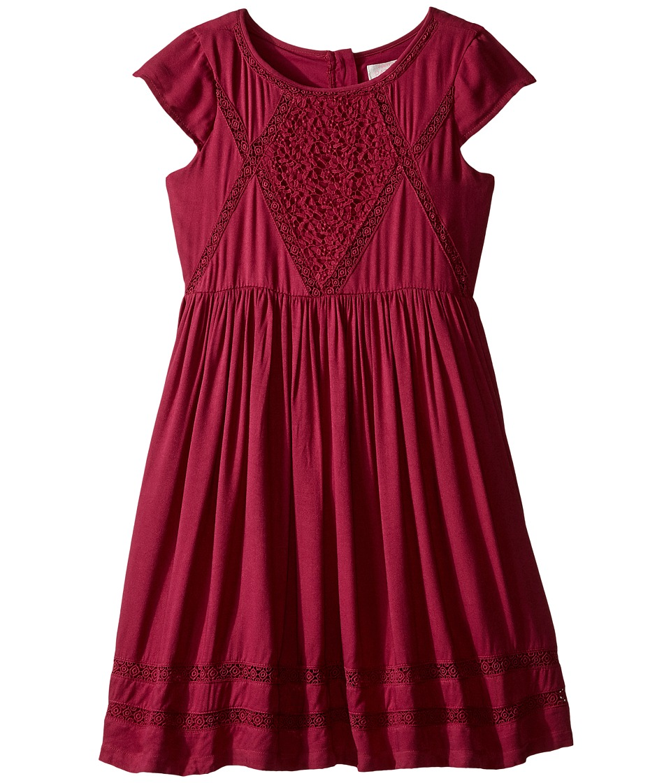 Pumpkin Patch Kids - Coco Lace Trim Dress (Little Kids/Big Kids) (Beaujolais) Girl's Dress