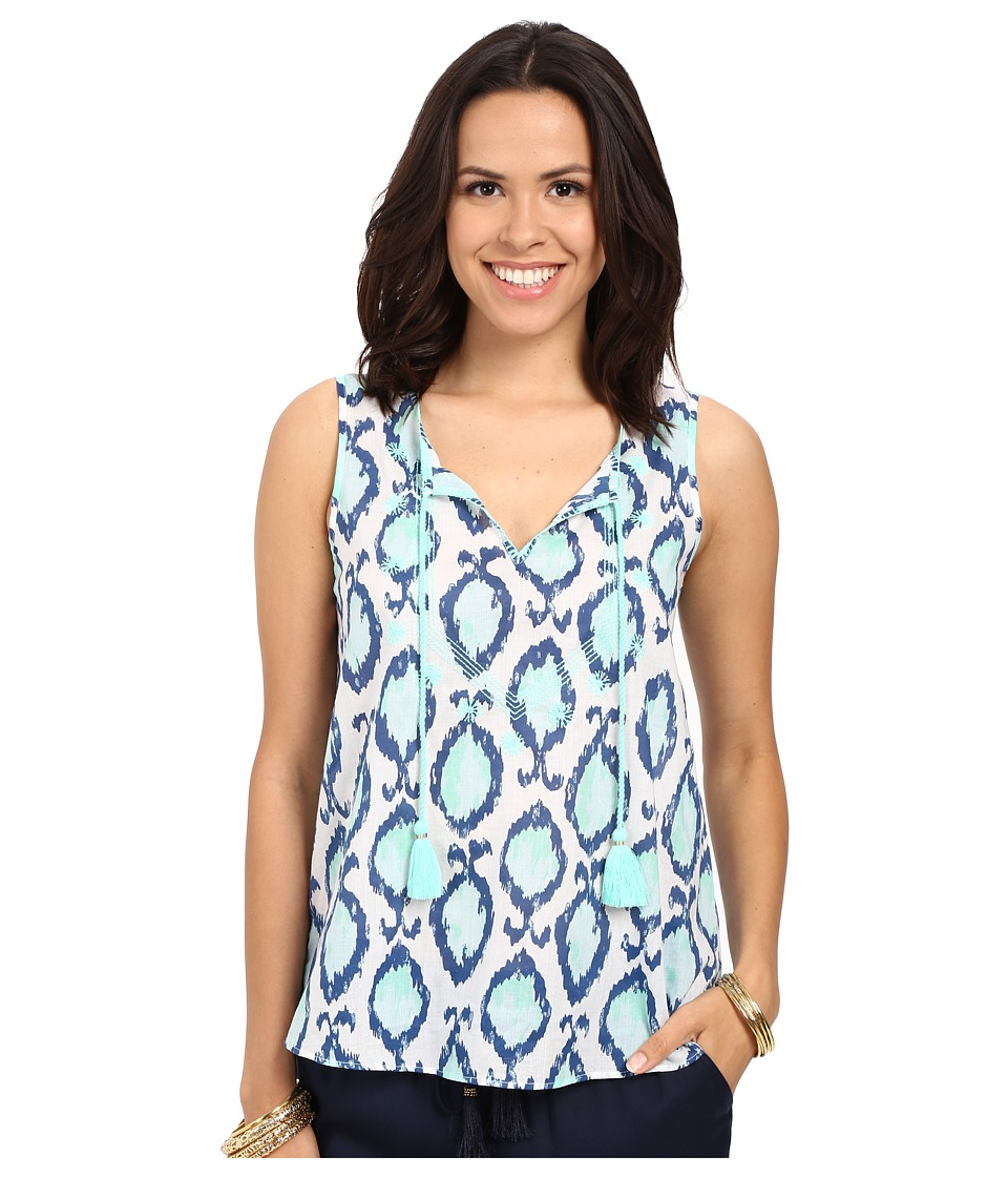 Lilly Pulitzer - Lauren Top (Resort White Hook You In) Women's Sleeveless