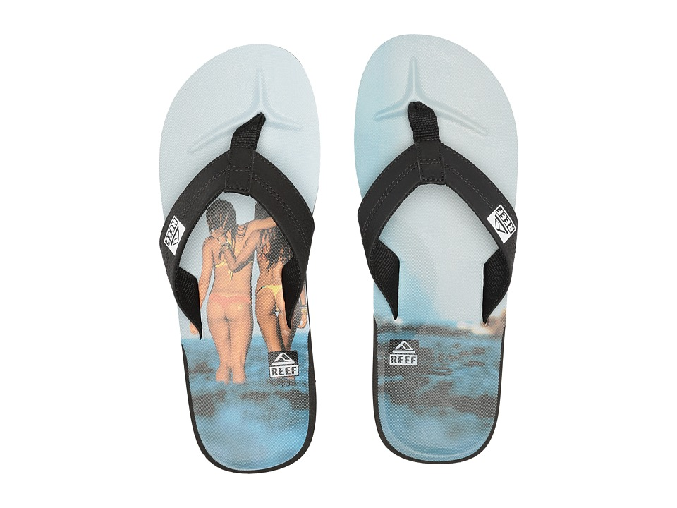 Reef - HT Prints (Reef Girl Grey) Men's Sandals