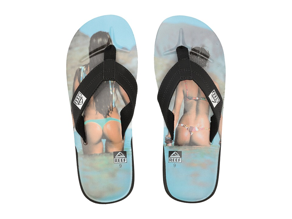 Reef - HT Prints (Reef Girl Aqua) Men's Sandals