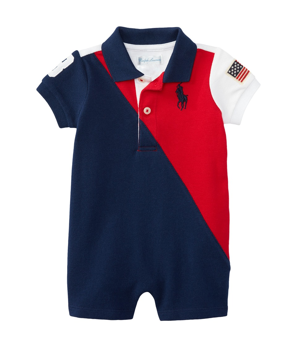Ralph Lauren Baby - Banner Polo One-Piece Shortalls (Infant) (RL 2000 Red) Boy's Overalls One Piece
