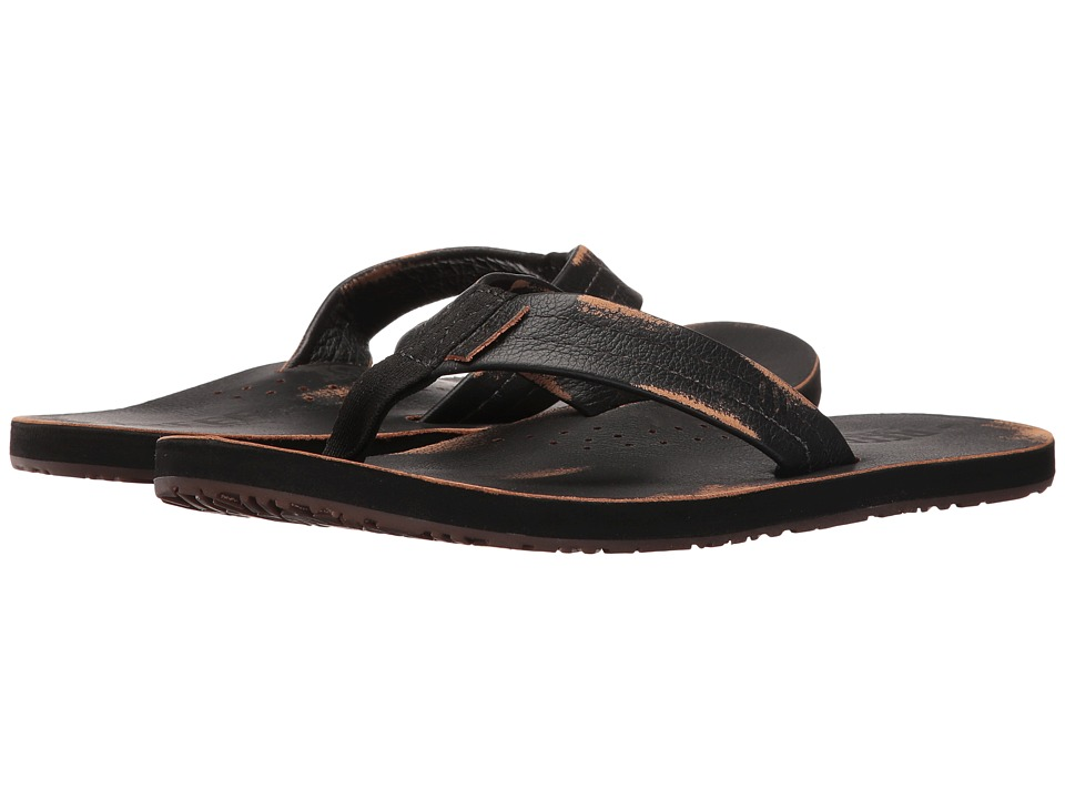 Reef - Draftsmen Lux (Worn Black) Men's Sandals