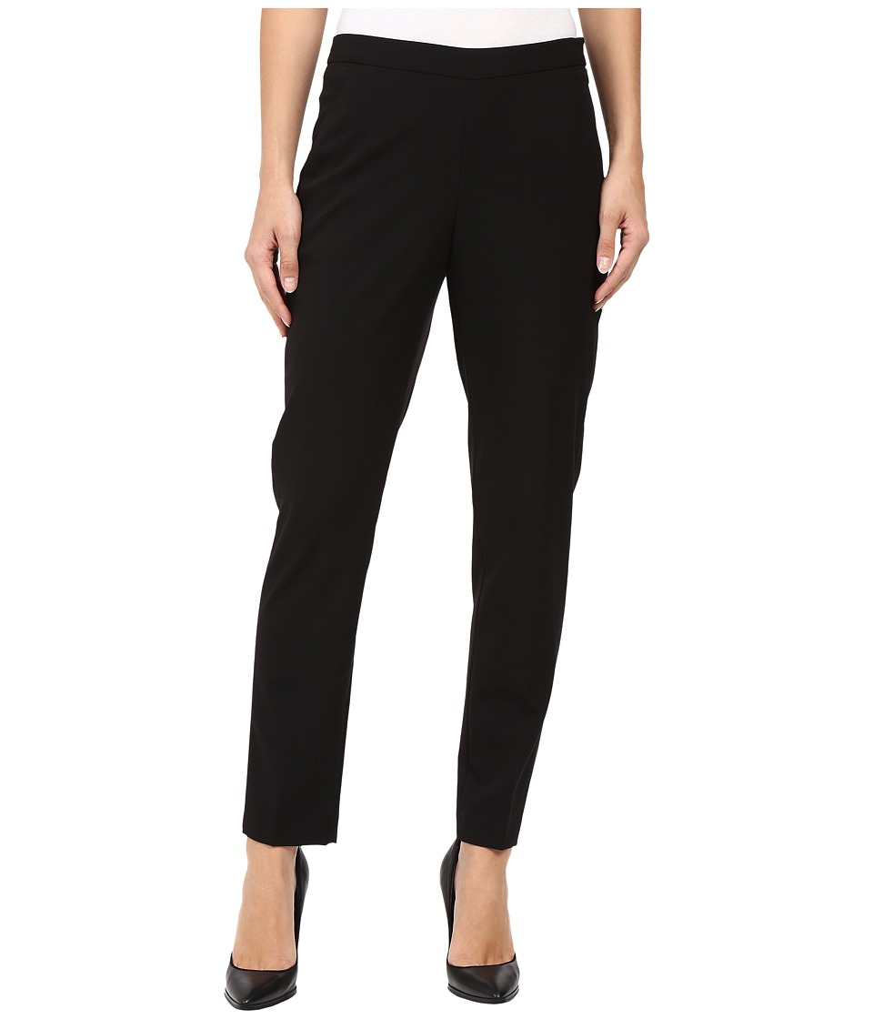 Ellen Tracy - Side Zip Tapered Leg Trousers (Black) Women's Dress Pants
