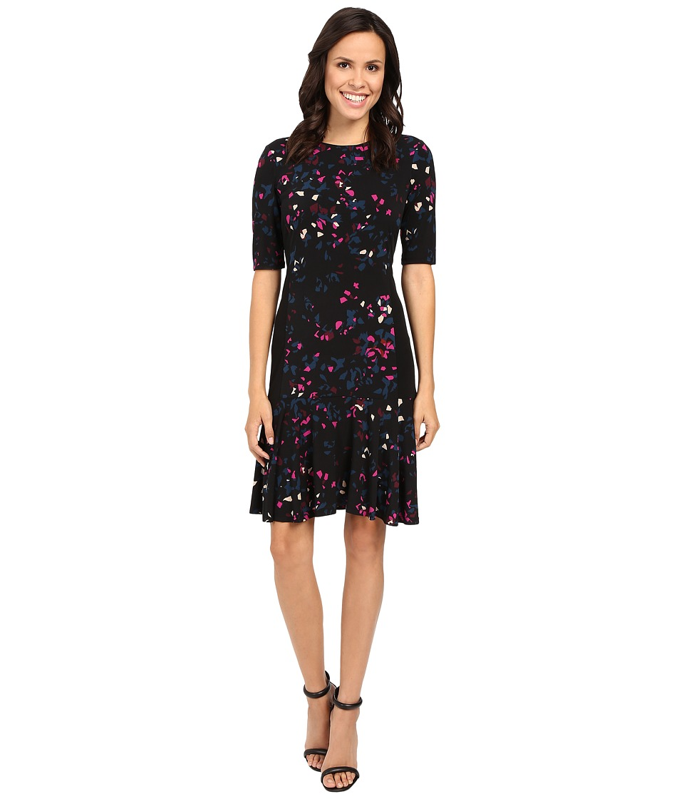 Ellen Tracy - Flounce Hem Dress (Reflection Multi) Women's Dress