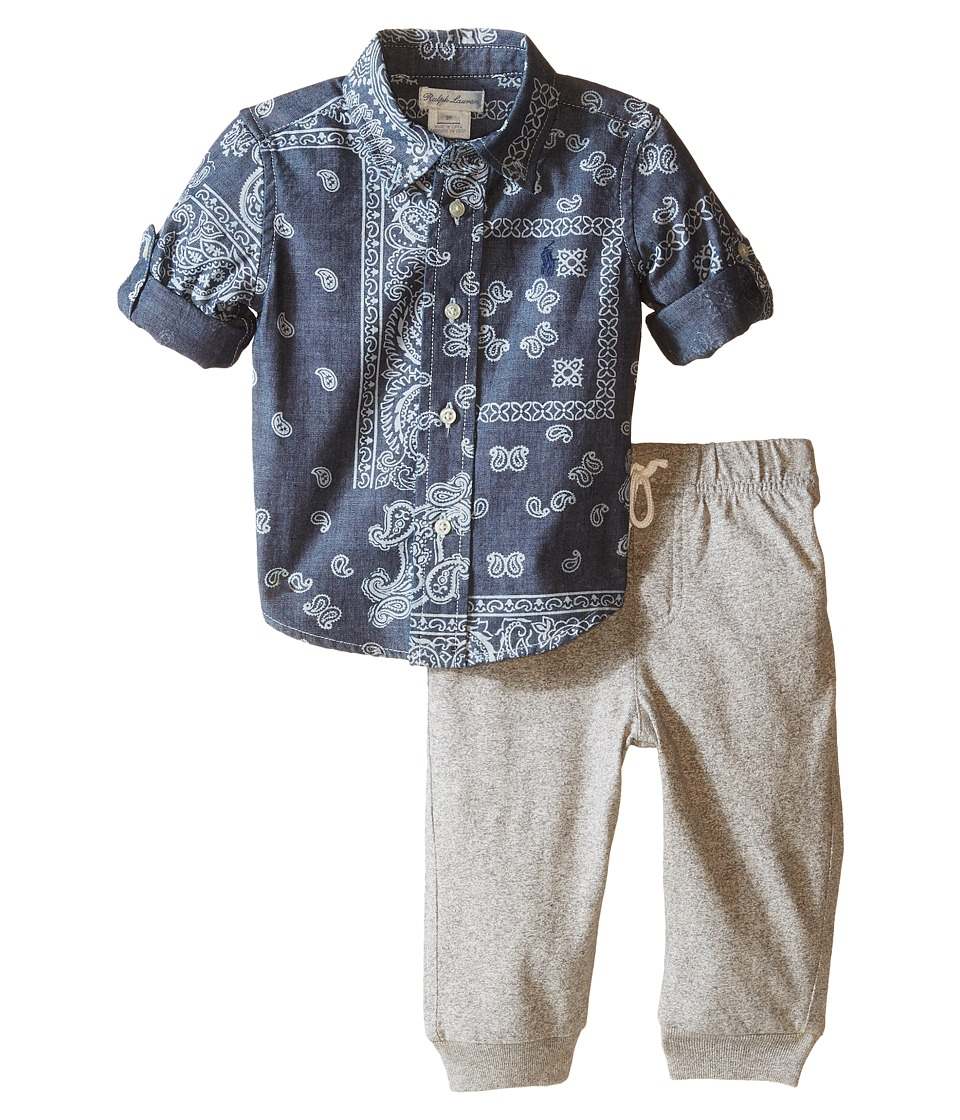 Ralph Lauren Baby - Chambray Bandana Pants Set (Infant) (Bandana Multi) Boy's Active Sets