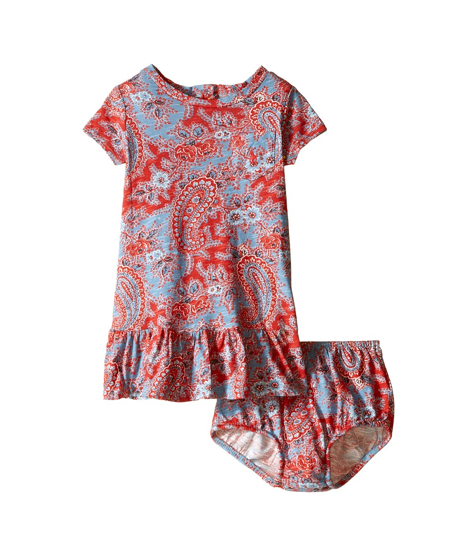 Ralph Lauren Baby - Paisley Knit Dress (Infant) (Red/Blue Multi) Girl's Dress