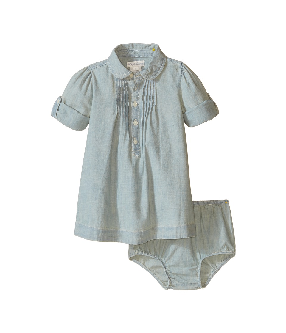 Ralph Lauren Baby - Chambray Shirtdress (Infant) (Indigo) Girl's Dress