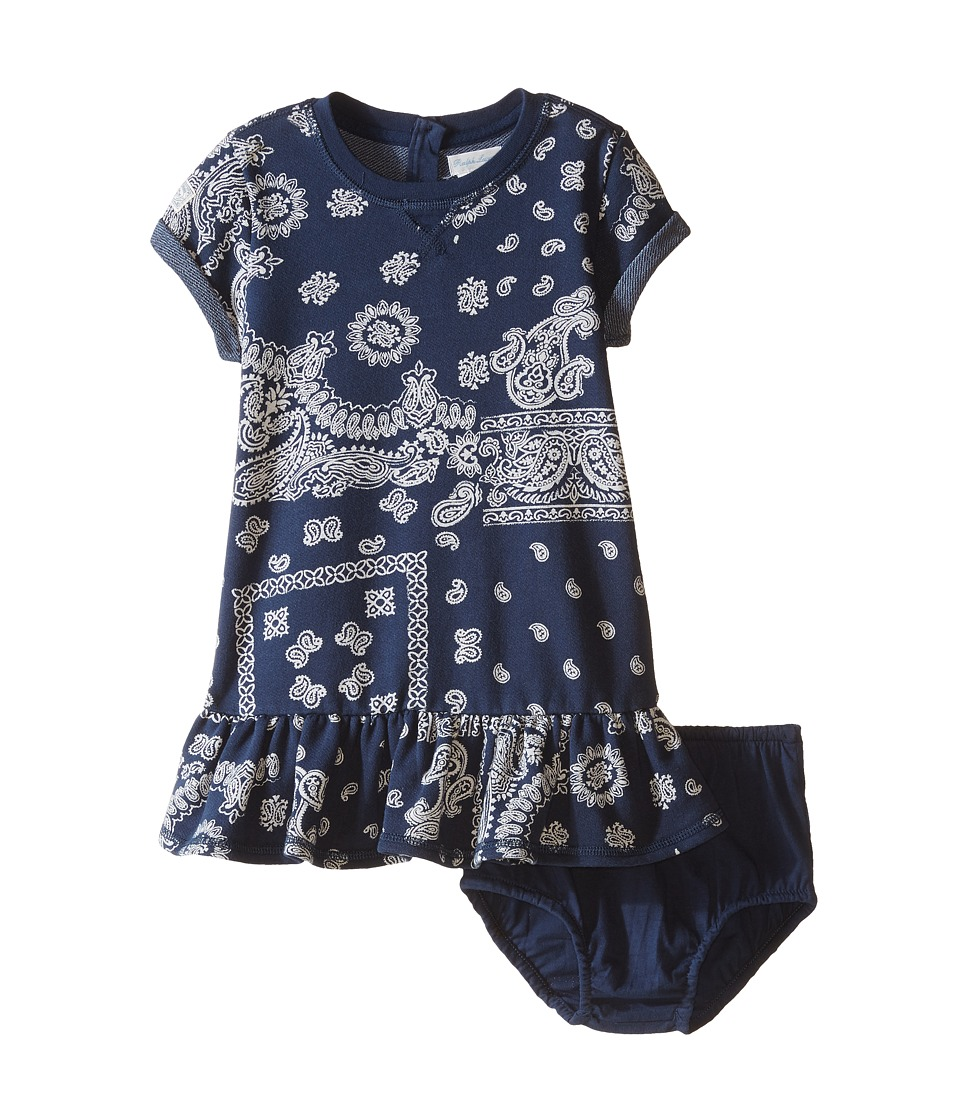 Ralph Lauren Baby - French Terry Bandana Knit Dress (Infant) (Navy Multi) Girl's Dress