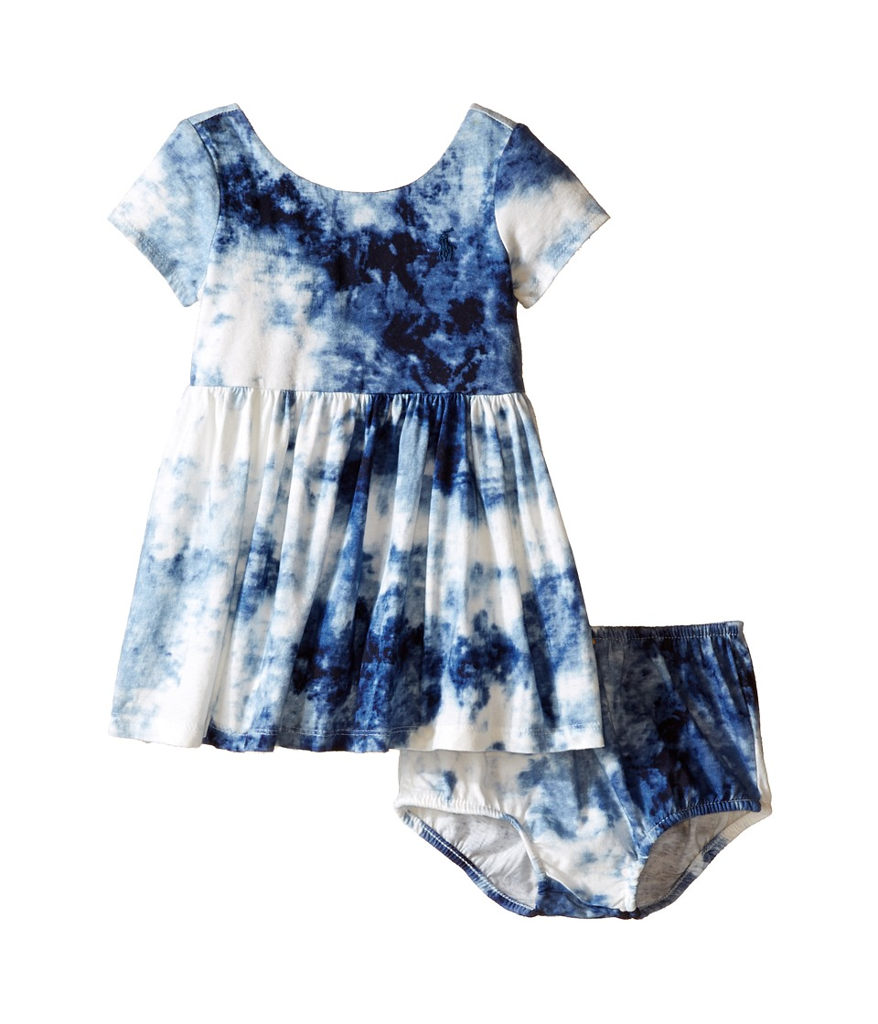 Ralph Lauren Baby - Tye-Dye T-Shirt Dress (Infant) (Blue Multi) Girl's Dress