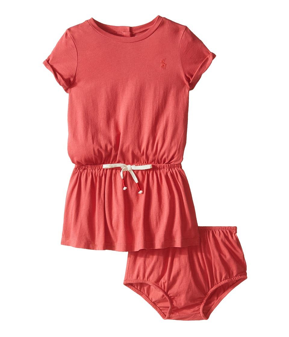Ralph Lauren Baby - Bow Tie Knit Dress (Infant) (Nantucket Red) Girl's Dress