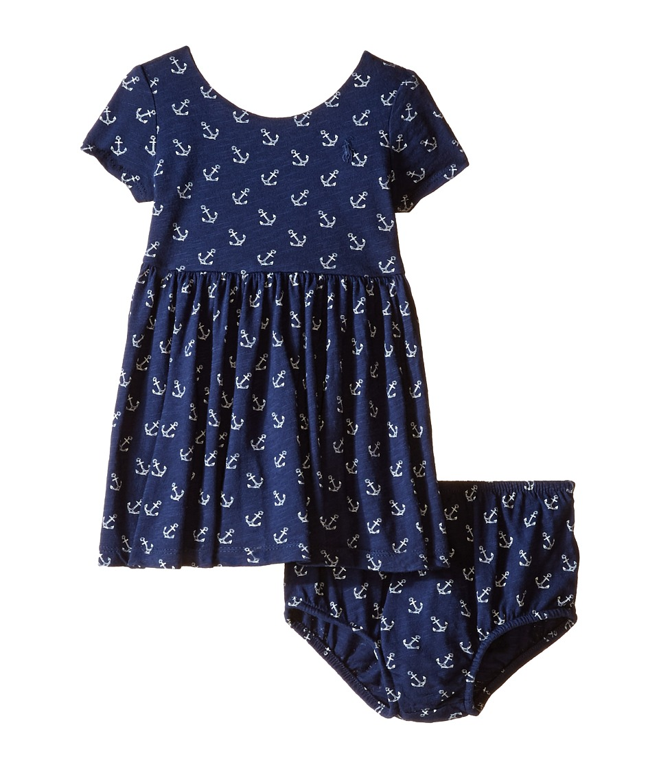 Ralph Lauren Baby - Anchor Knit Dress (Infant) (Navy) Girl's Dress