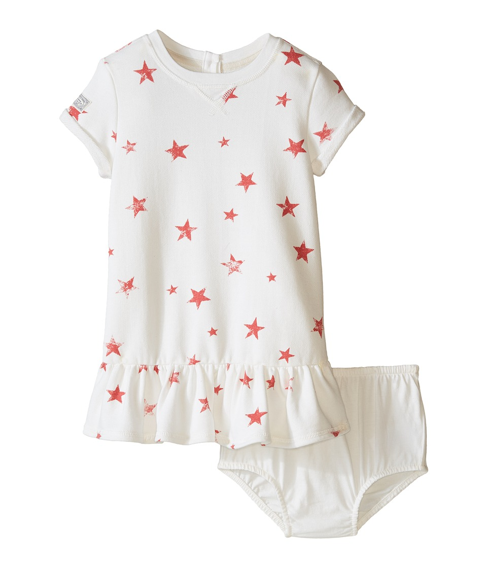 Ralph Lauren Baby - French Terry Star Knit Dress (Infant) (Cream Multi) Girl's Dress