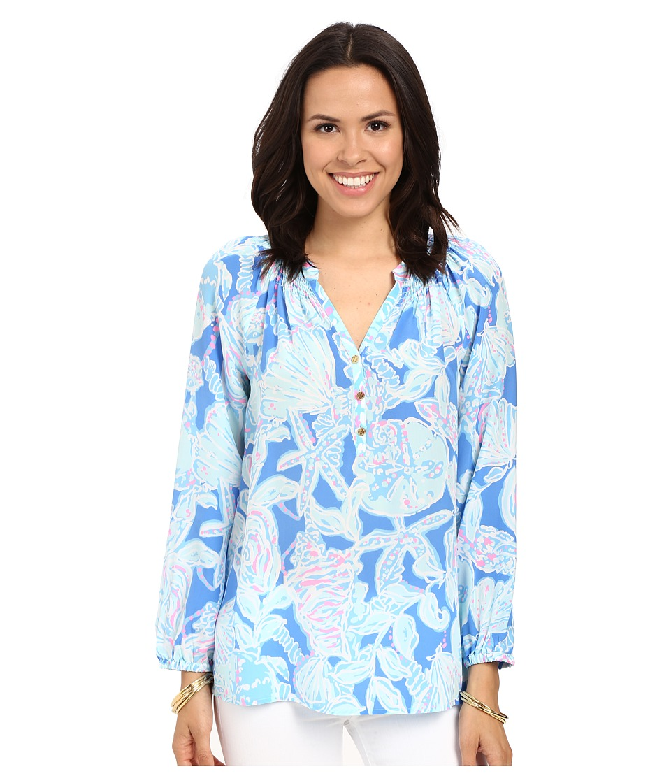 Lilly Pulitzer - Elsa Top (Bay Blue Into The Deep) Women's Blouse