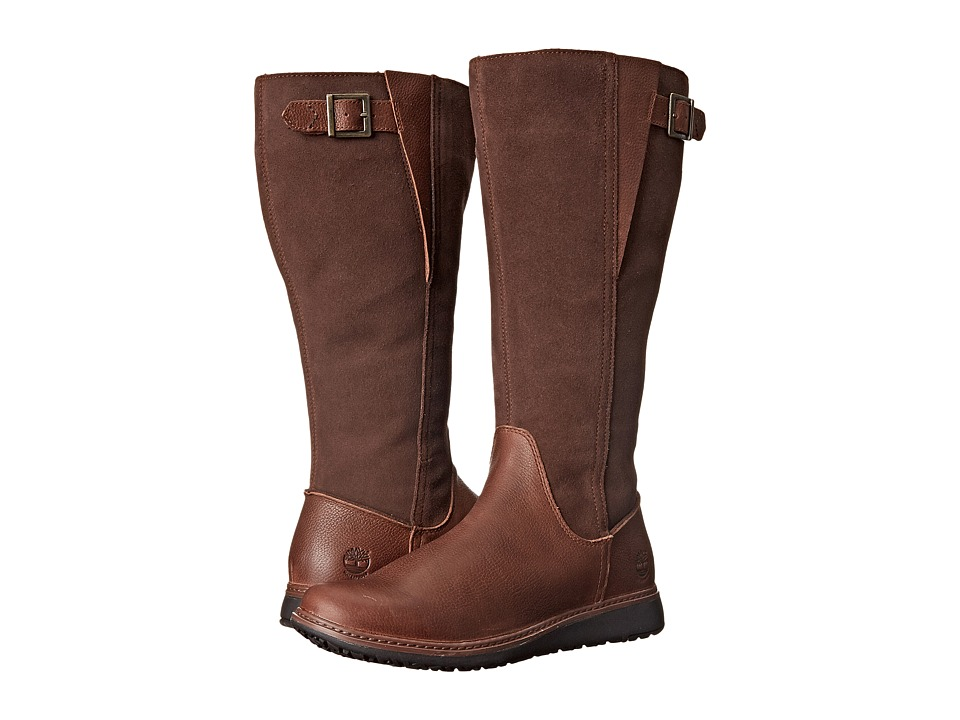 Timberland - Ashdale All Fit Tall (Dark Brown) Women's Pull-on Boots
