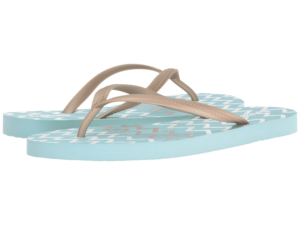 Reef - Chakras Prints (Aqua/Zigzag) Women's Sandals