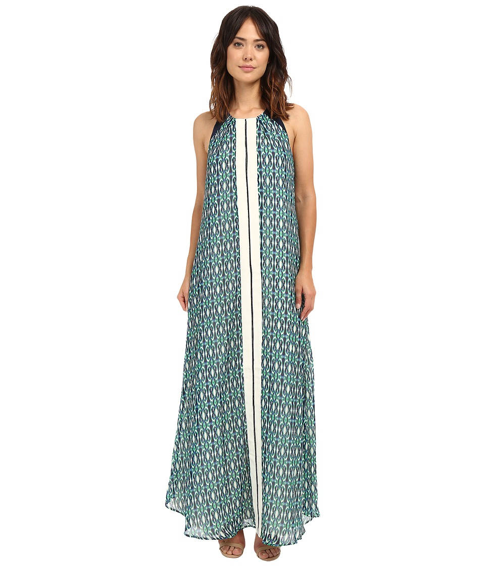 Adelyn Rae - Printed Maxi (Green) Women's Dress