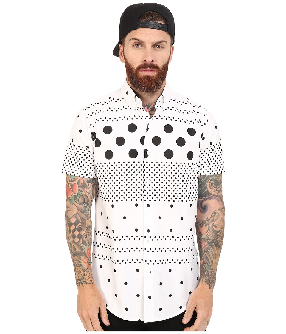 Staple - Polka Stripes Woven (White) Men's Clothing