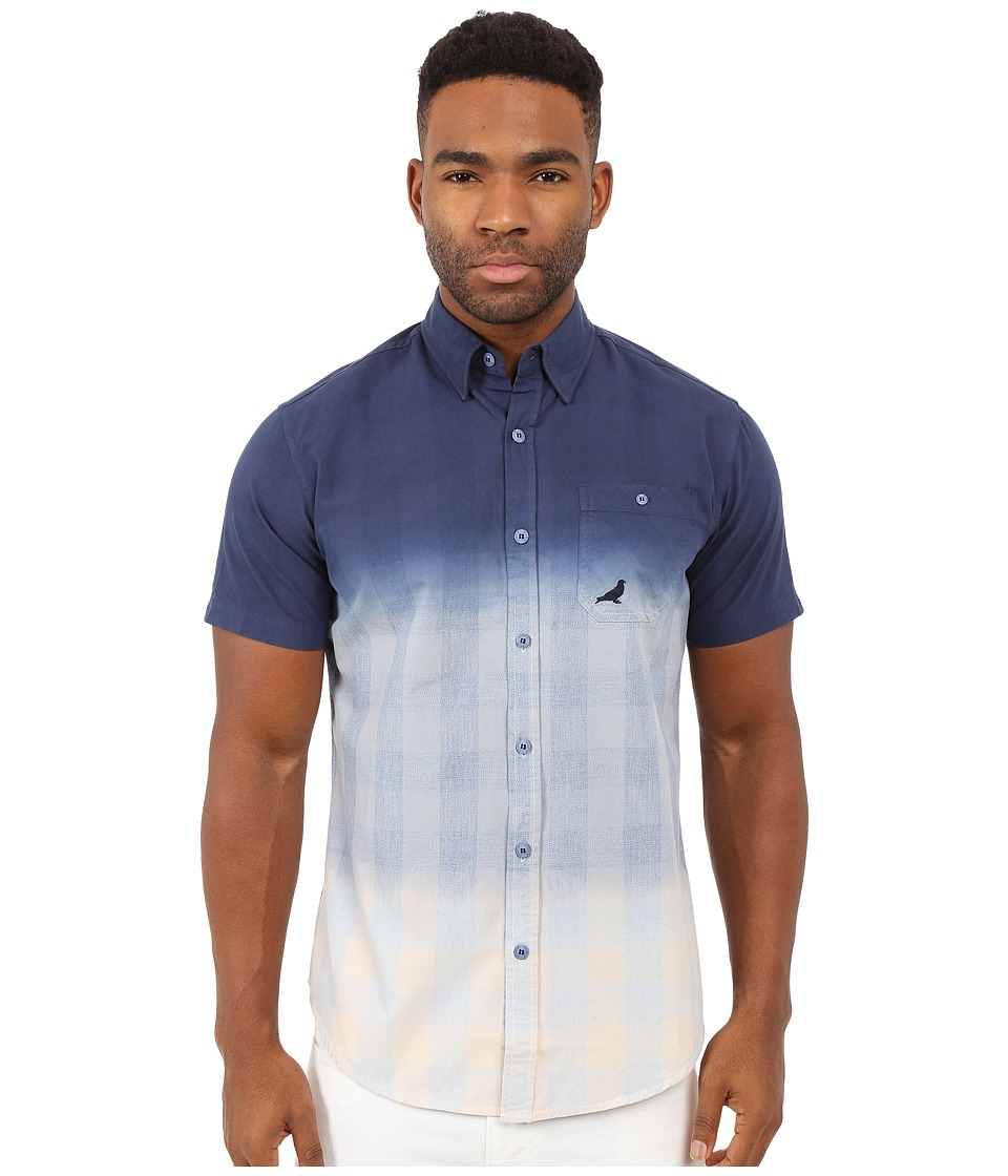 Staple - Yard Woven (Indigo) Men's Short Sleeve Button Up