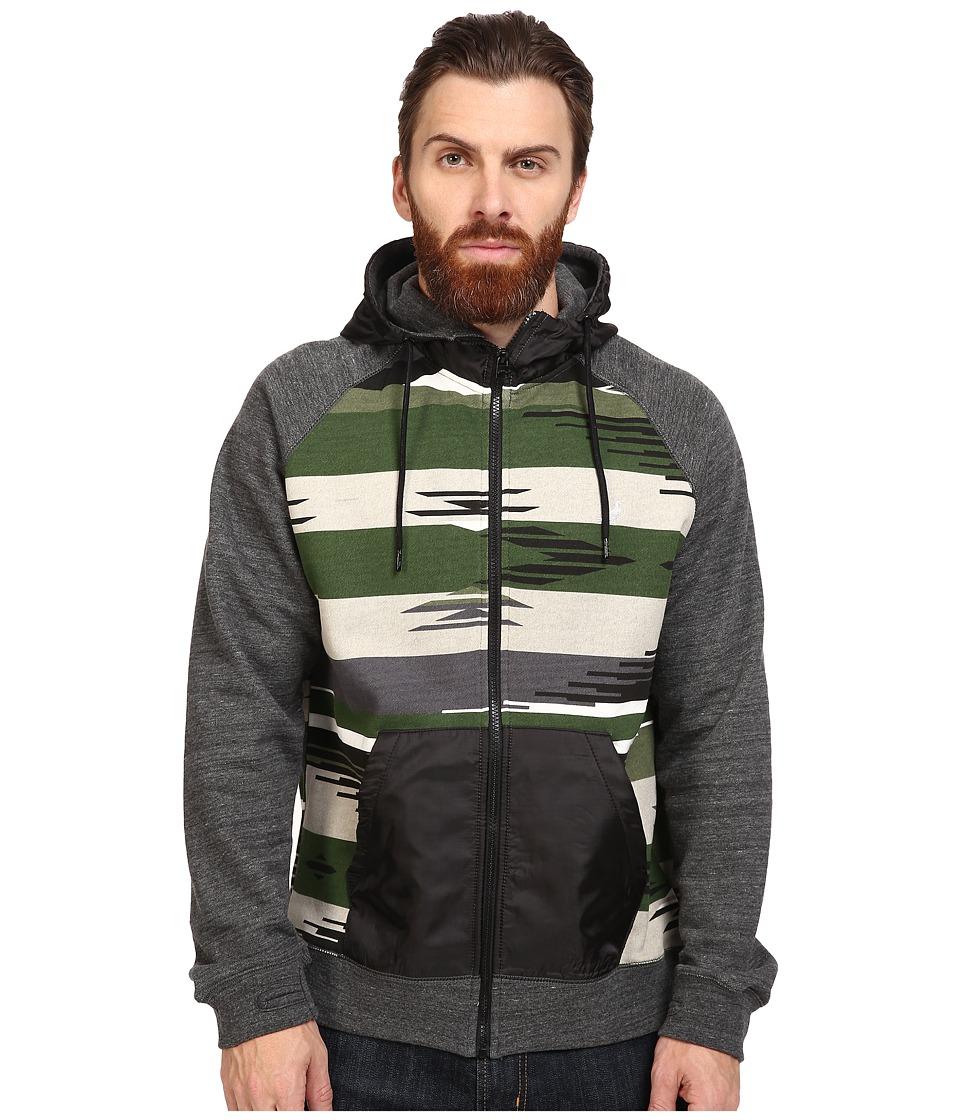 Staple - Apache Print Zip Hoodie (Olive) Men's Sweatshirt