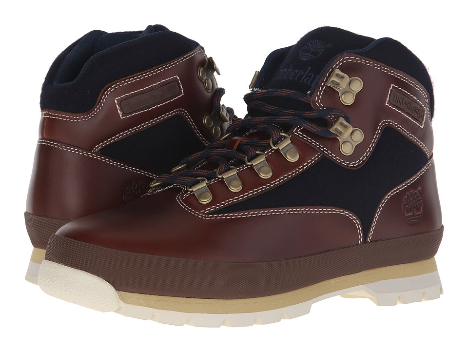 Timberland - Euro Hiker Leather Fabric (Brown) Men