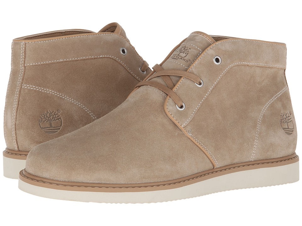 Timberland - Newmarket Plain Toe Chukka (Light Brown) Men's Lace-up Boots