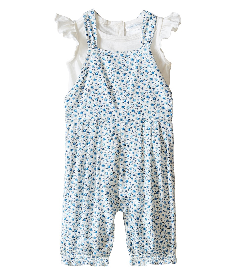 Ralph Lauren Baby - Floral Overalls Set (Infant) (Cream Multi) Girl's Active Sets