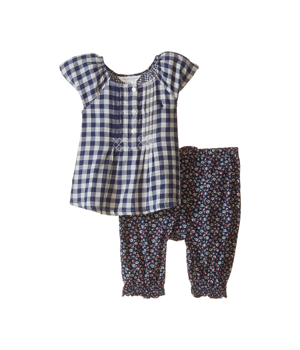 Ralph Lauren Baby - Mixed Pants Set (Infant) (Navy Multi) Girl's Active Sets