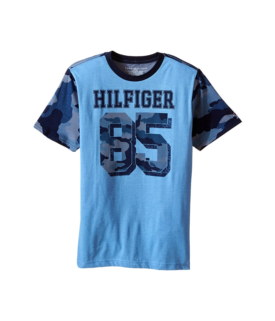 Tommy Hilfiger Kids - Jackson Camo Tee (Big Kids) (Swim Navy) Boy's T Shirt