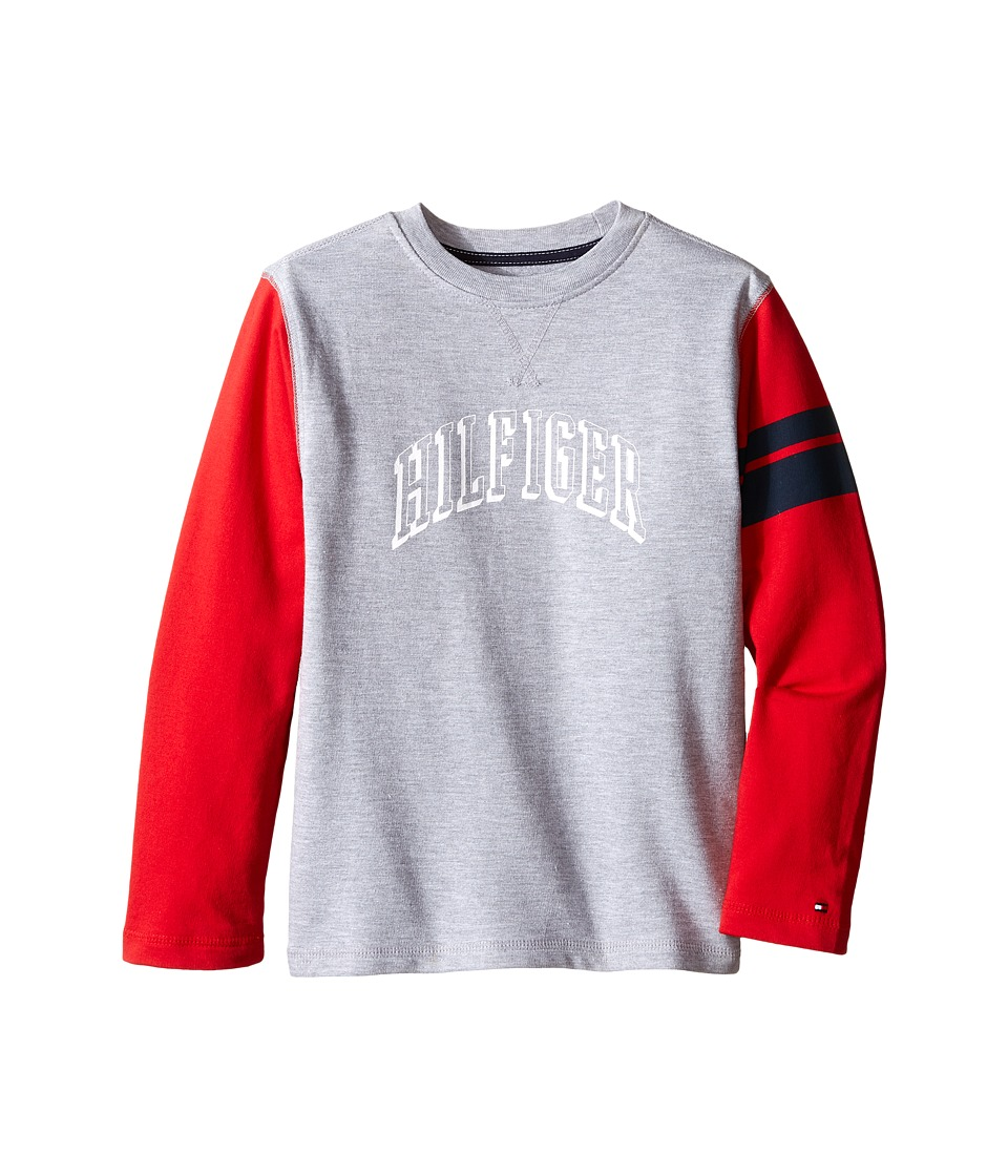 Tommy Hilfiger Kids - Jon French Terry Tee (Toddler/Little Kids) (Grey Heather) Boy's T Shirt