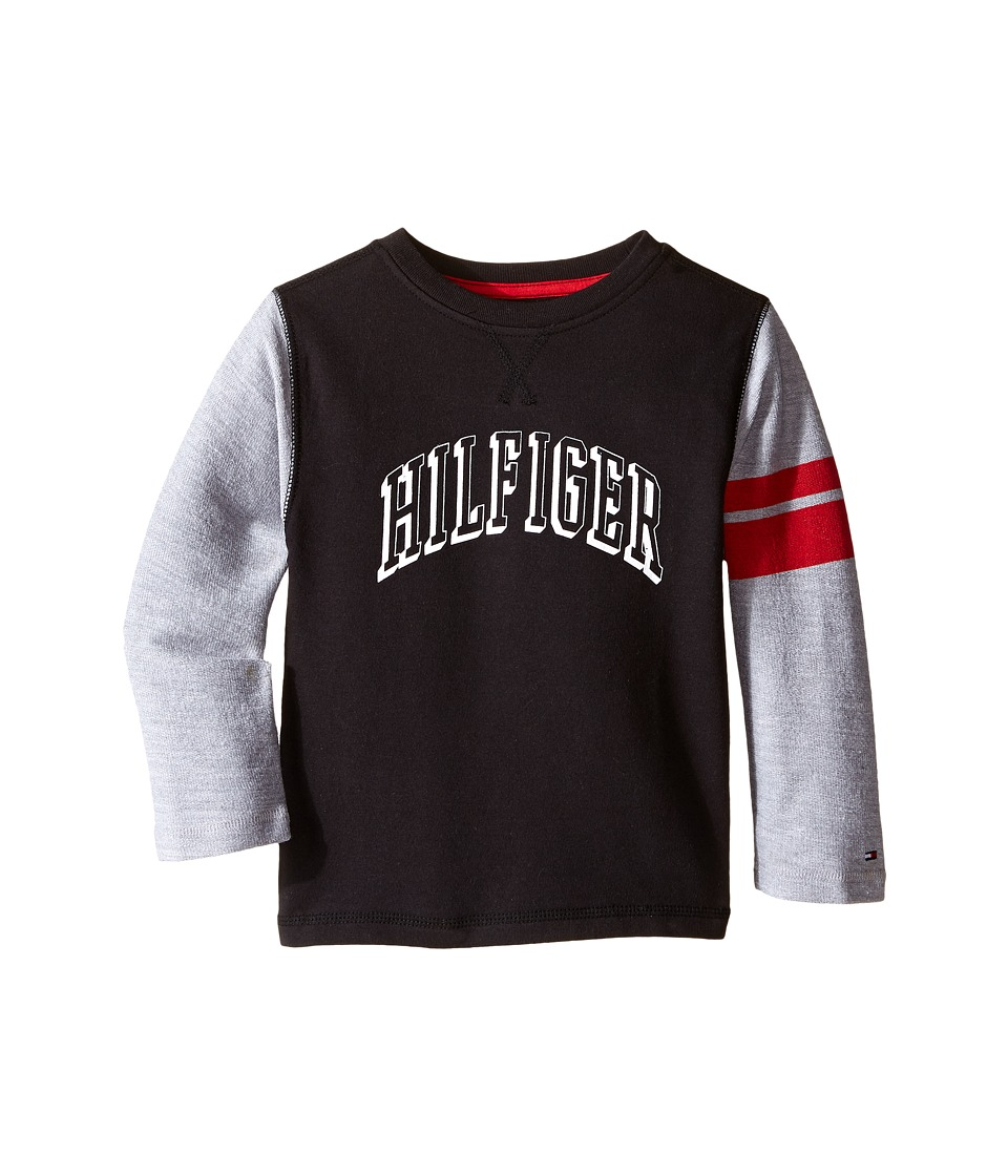 Tommy Hilfiger Kids - Jon French Terry Tee (Toddler/Little Kids) (Tommy Black) Boy's T Shirt