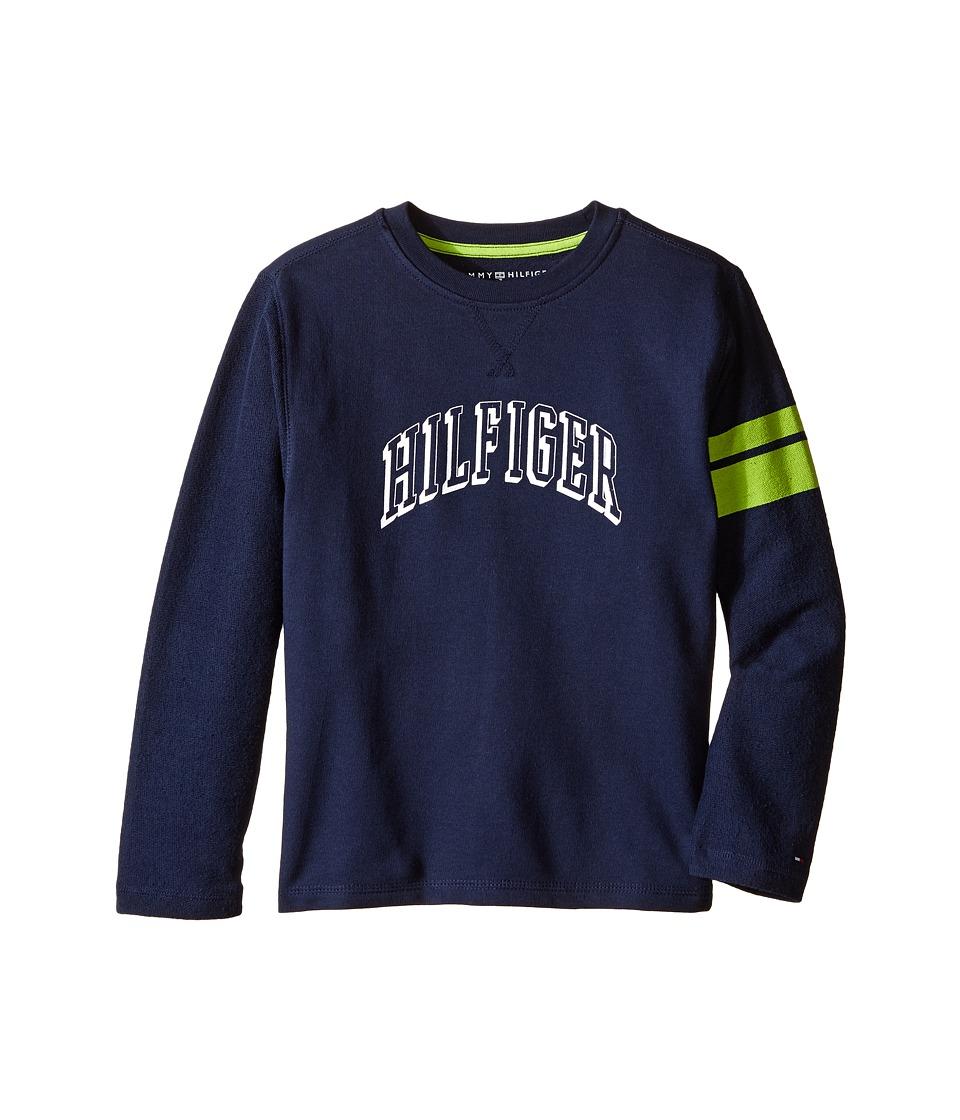 Tommy Hilfiger Kids - Jon French Terry Tee (Toddler/Little Kids) (Swim Navy) Boy's T Shirt