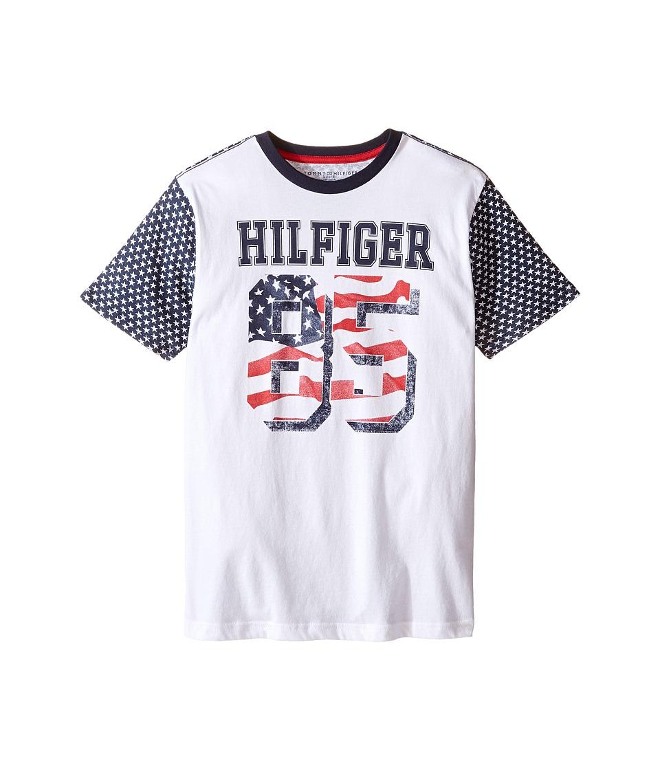 Tommy Hilfiger Kids - Jackson Stars and Stripe Tee (Big Kids) (White) Boy's T Shirt
