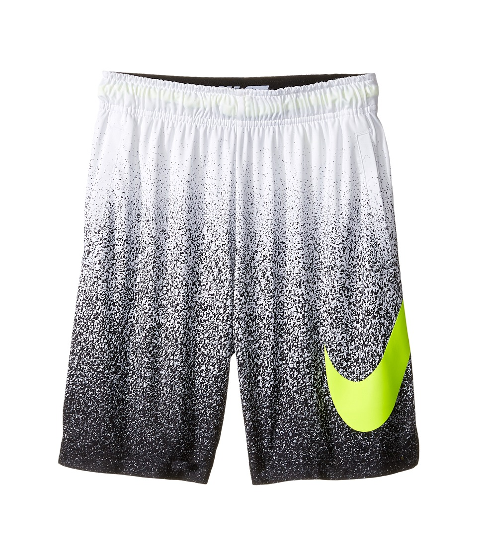 Nike Kids - Dry Training Short (Little Kids/Big Kids) (White/Volt/Volt) Boy's Shorts