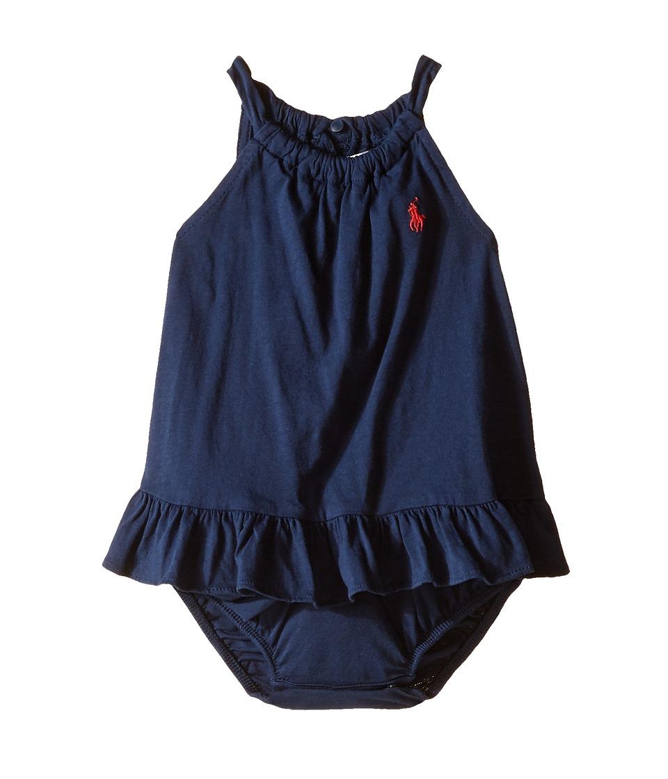 Ralph Lauren Baby - Bubble One-Piece Romper (Infant) (Deep Water) Girl's Jumpsuit & Rompers One Piece