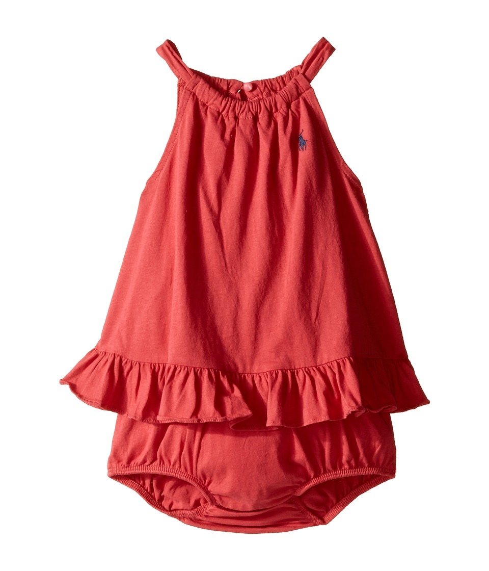 Ralph Lauren Baby - Bubble One-Piece Romper (Infant) (Nantucket Red) Girl's Jumpsuit & Rompers One Piece