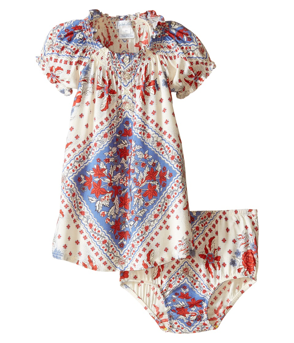 Ralph Lauren Baby - Bandana Woven Dress (Infant) (Cream Multi) Girl's Dress