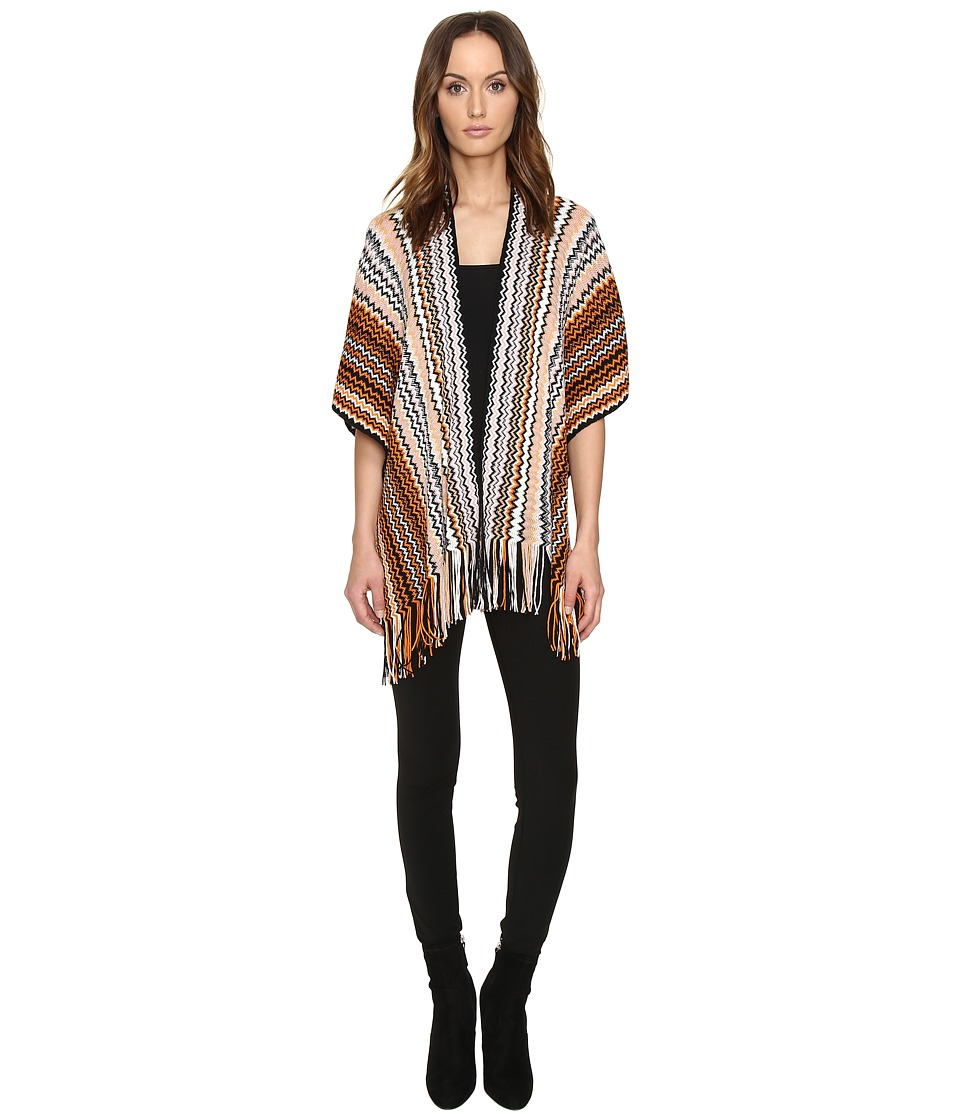 Missoni - MAKEWMD55400 (Orange/Black) Scarves