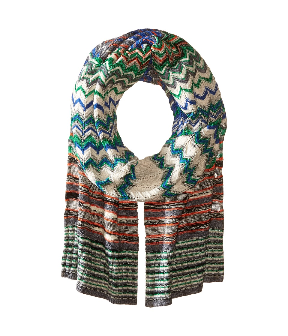 Missoni - SC12WMD57450 (Green/Blue) Scarves