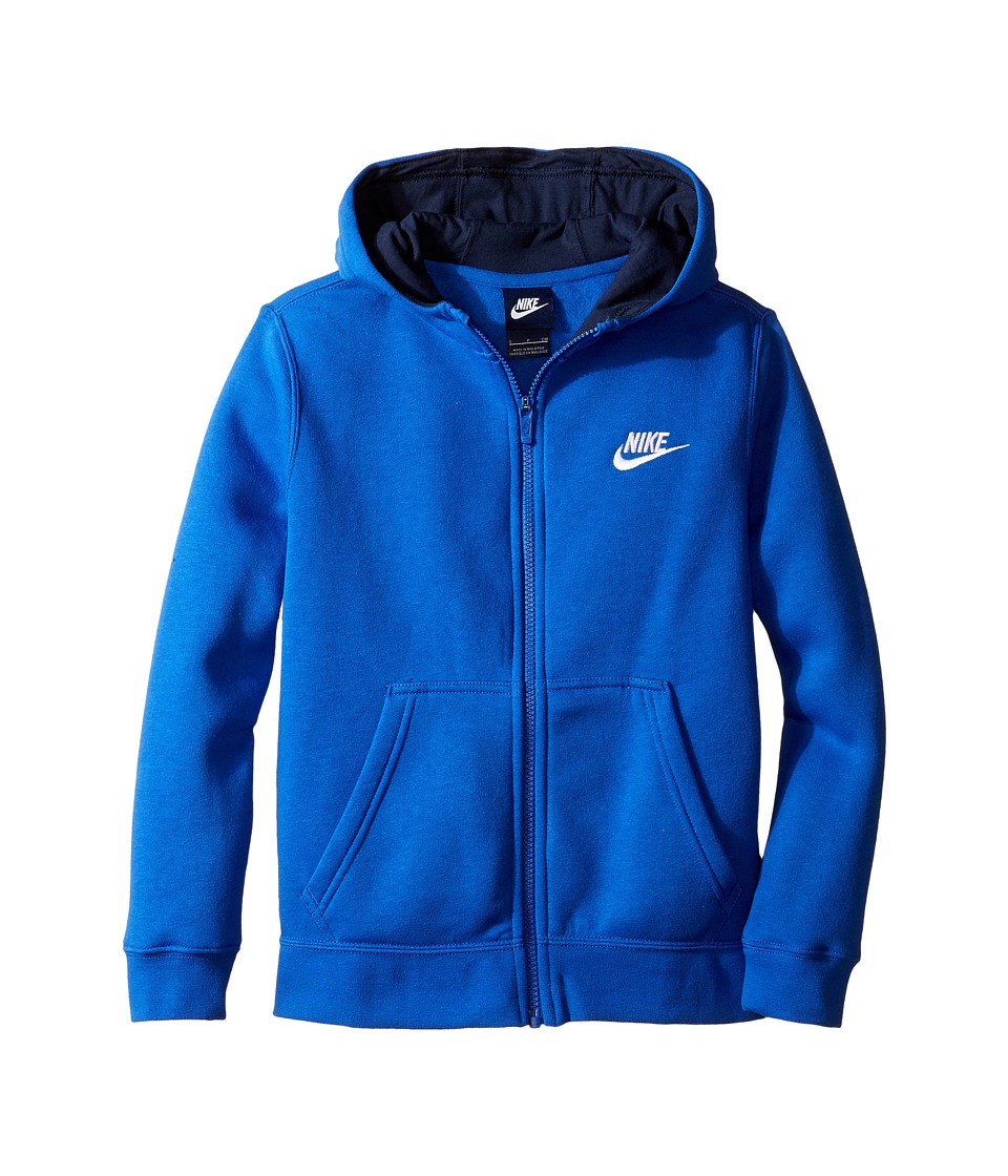 Nike Kids - Sportswear Club Hoodie (Little Kids/Big Kids) (Game Royal/Obsidian/White) Boy's Sweatshirt