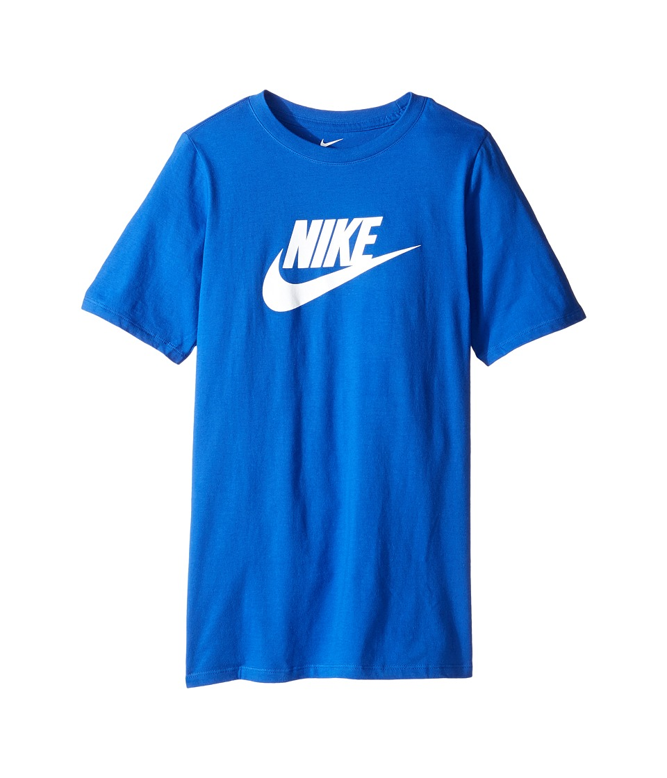 Nike Kids - Futura Icon Tee (Little Kids/Big Kids) (Game Royal/White) Boy's Short Sleeve Pullover