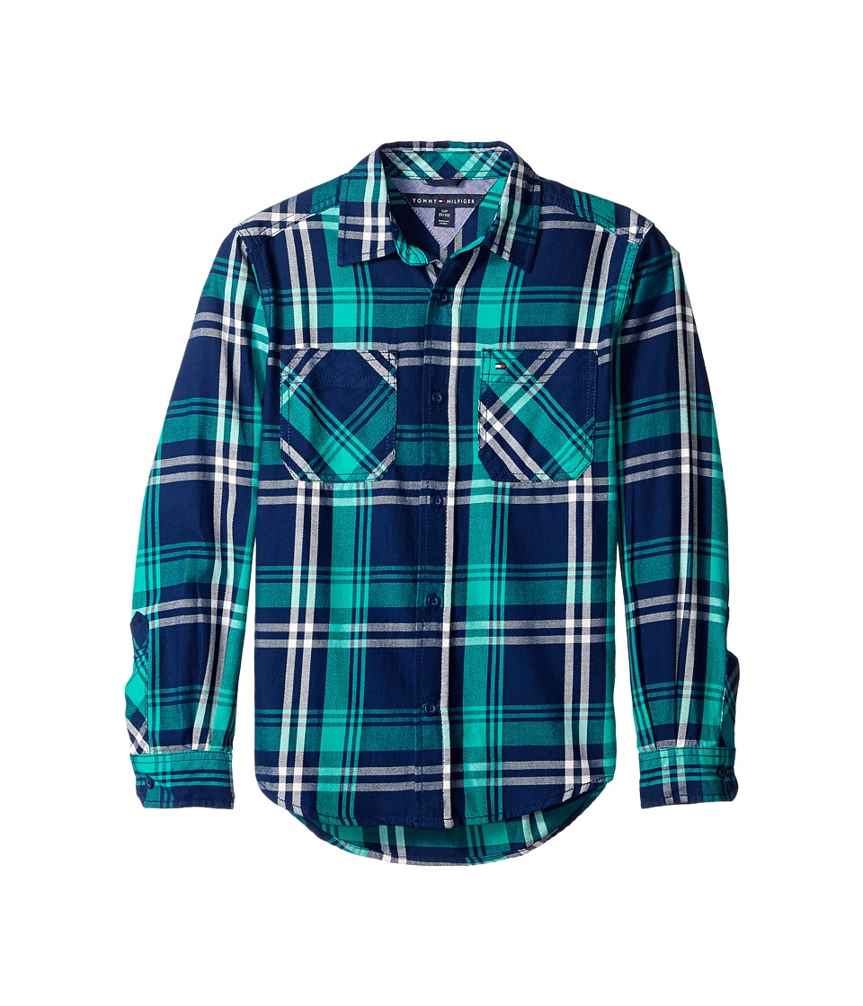 Tommy Hilfiger Kids - Larson Long Sleeve Shirt (Toddler/Little Kids) (Flag Blue) Boy's Clothing