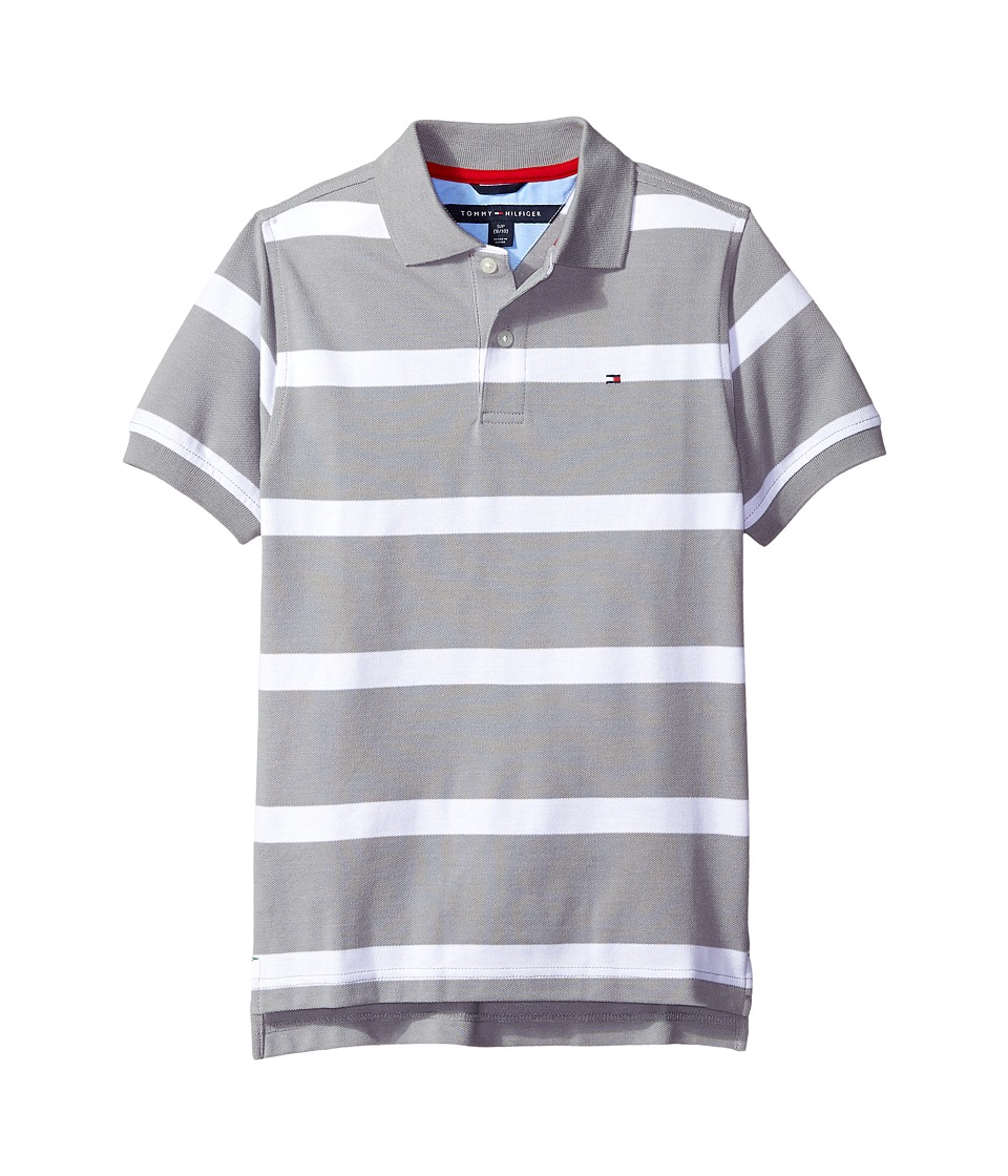 Tommy Hilfiger Kids - Clubhouse Pique Polo (Big Kids) (Grey Heather) Boy's Clothing