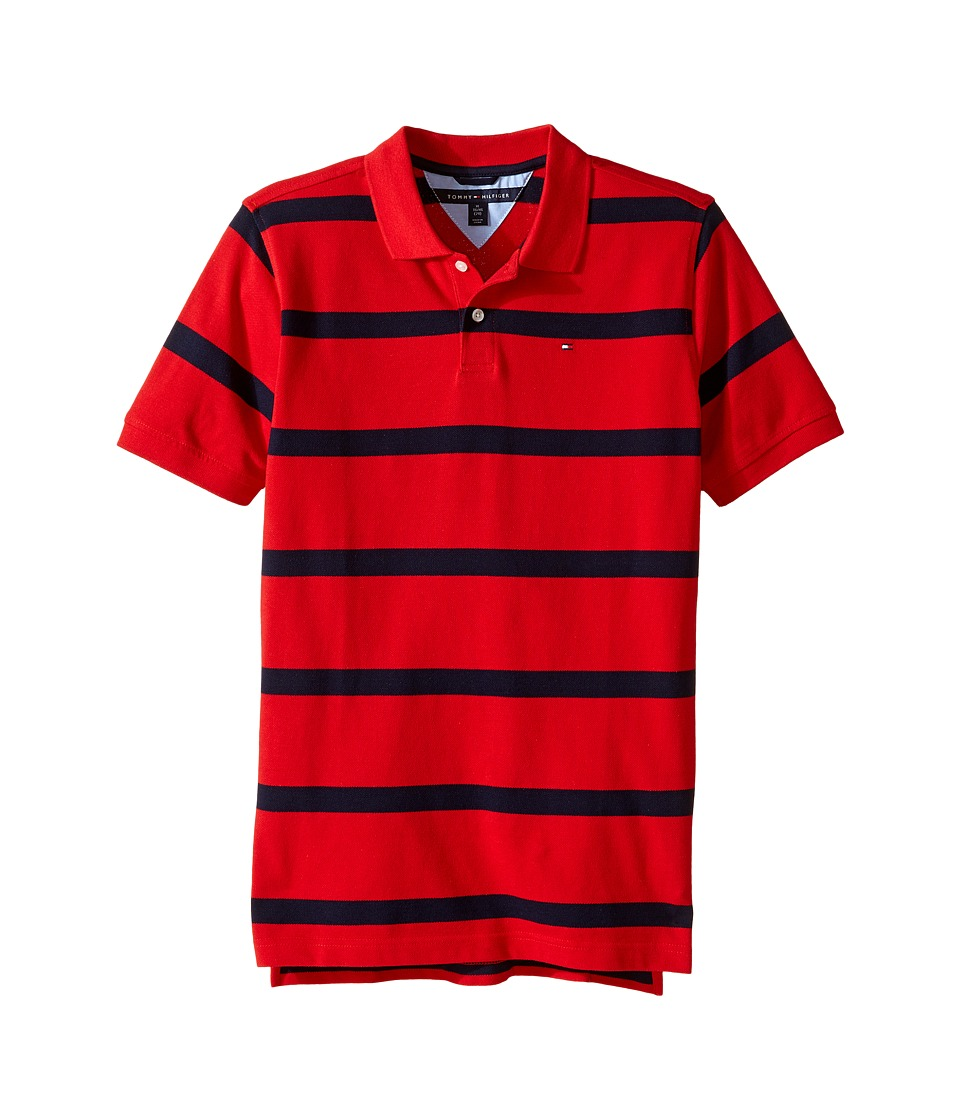 Tommy Hilfiger Kids - Clubhouse Pique Polo (Big Kids) (Regal Red) Boy's Clothing